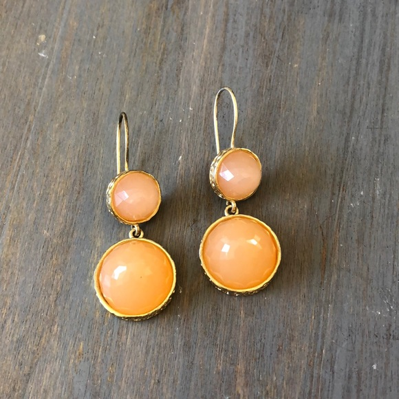 drop peach fashion earrings tortoise tango